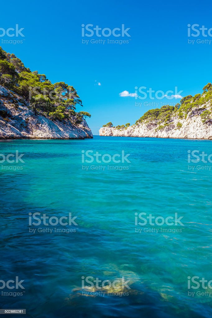 Famous calanque of Port Pin stock photo
