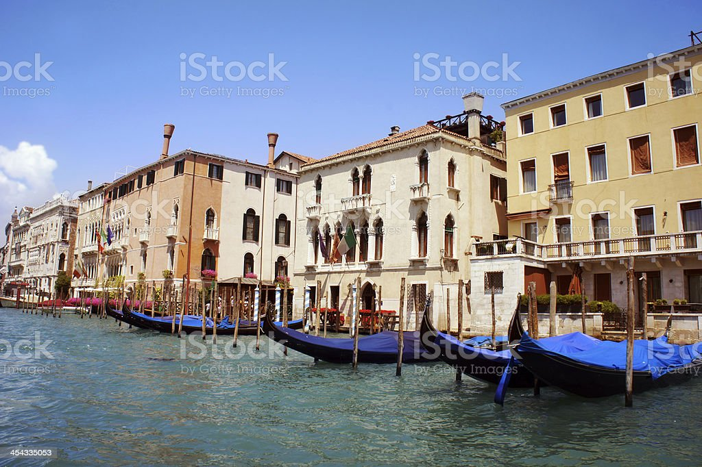 Famous Canal Grande in Venice, Italy royalty-free stock photo