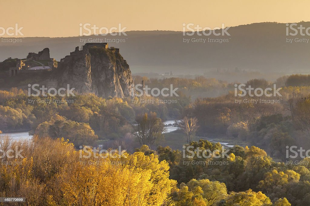 Famous castle Devin in Slovakia royalty-free stock photo