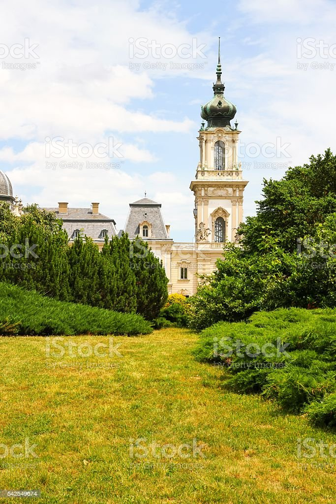 Famous castle in Keszthely stock photo