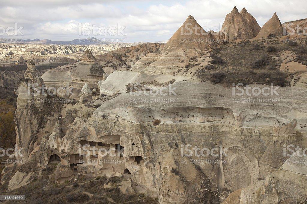 Famous cave city  Cappadocia at Turkey royalty-free stock photo