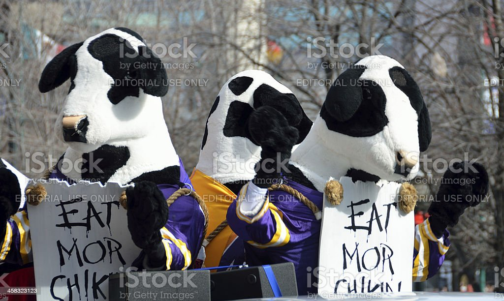 Famous Chick-fil-A Cows stock photo