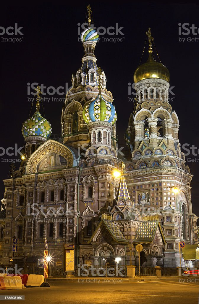 Famous chourch in Russia Saint-Petersburg royalty-free stock photo