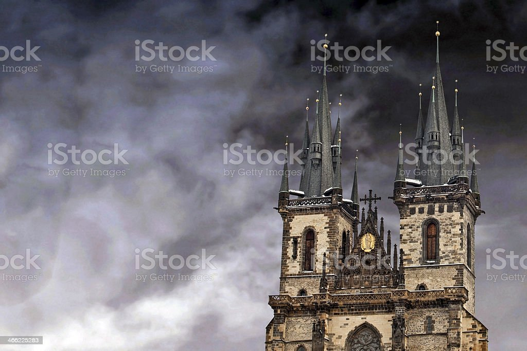 Famous Church of our lady before Tyn in Prague royalty-free stock photo