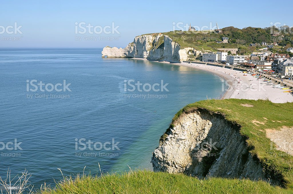 Famous cliffs of Etretat in France royalty-free stock photo