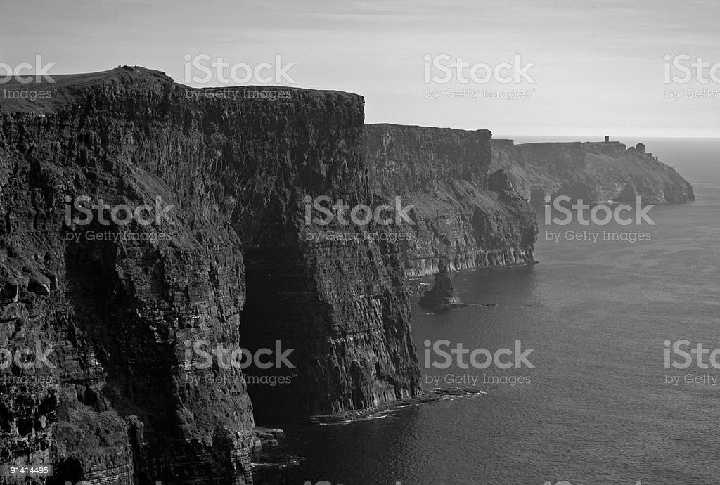 Famous Cliffs of Moher in Ireland royalty-free stock photo