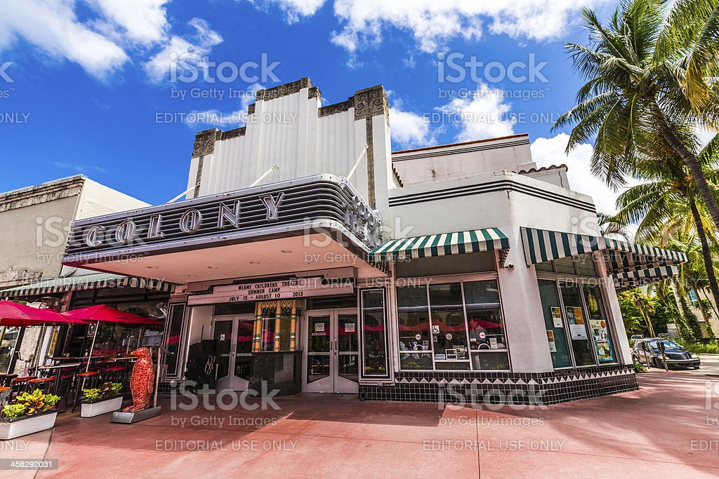 Famous Colony Art Deco Theater royalty-free stock photo