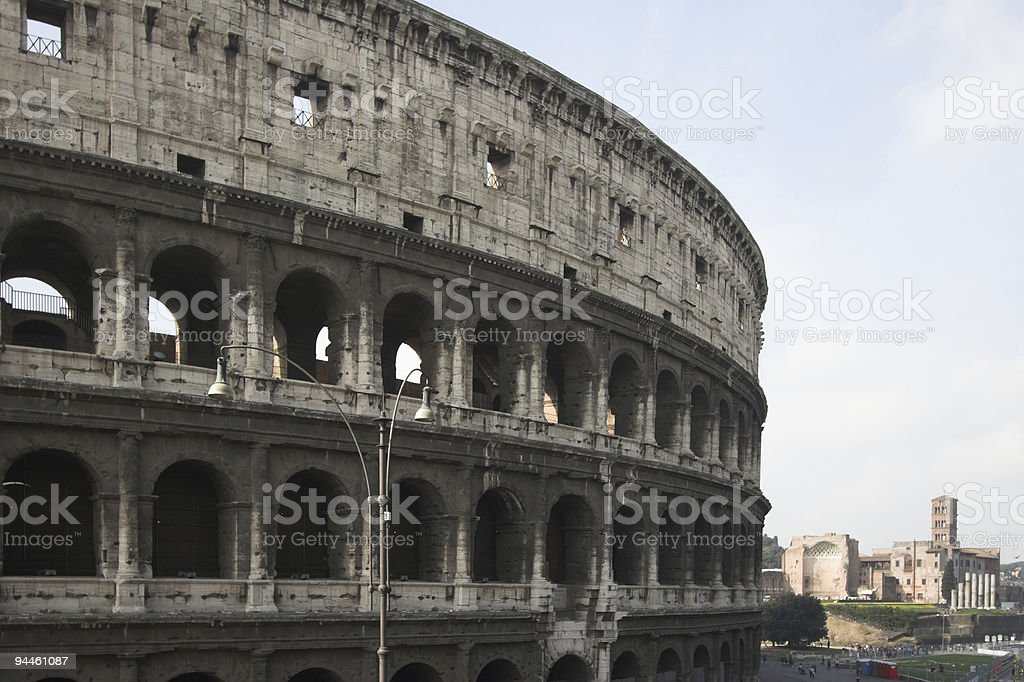 Famous Colosseum in Rome royalty-free stock photo