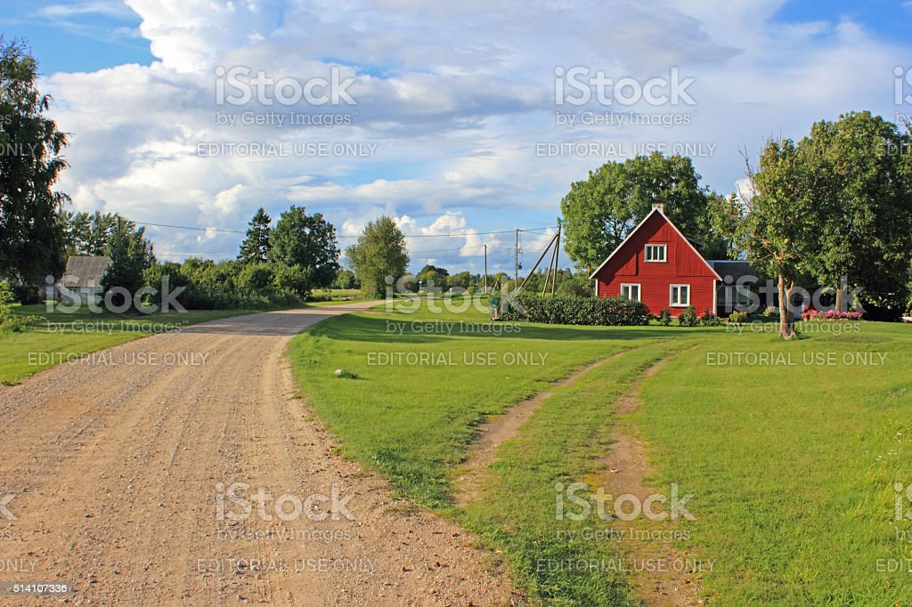 Famous Country Road stock photo