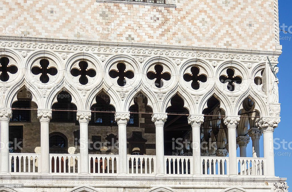 Famous Doge s Palace in Venice - Palazzo Ducale at Lizenzfreies stock-foto