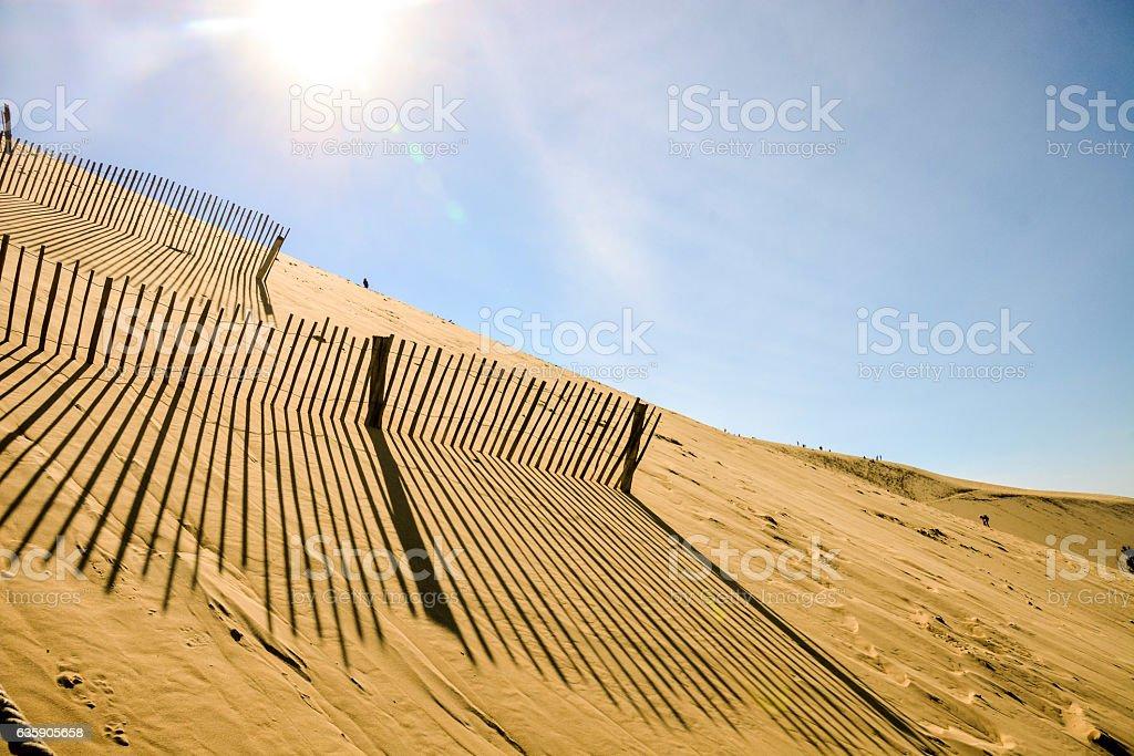 Famous dune of Pyla France. stock photo