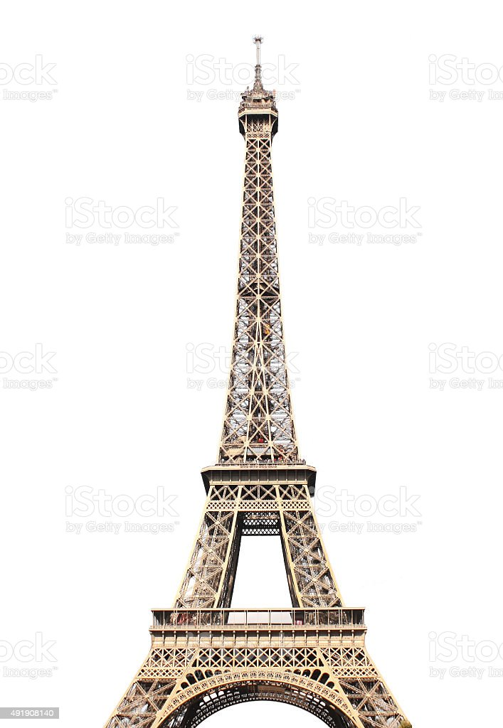 Famous Eiffel tower in Paris stock photo