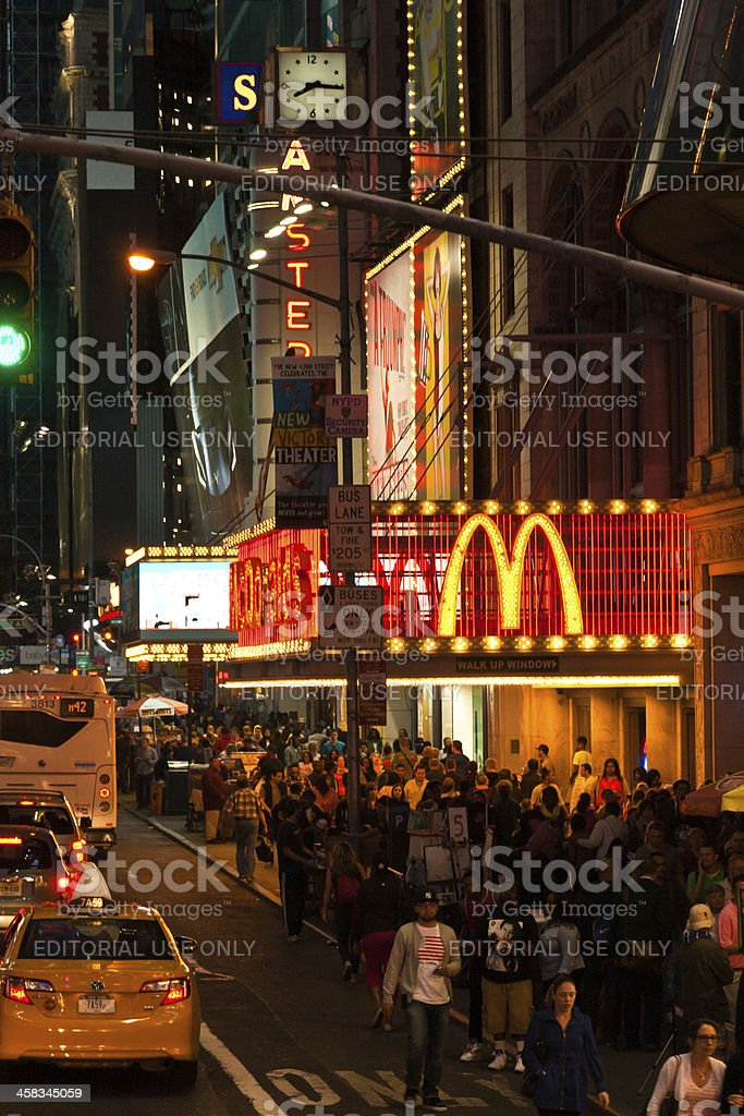 Famous food on Times Square, New York royalty-free stock photo