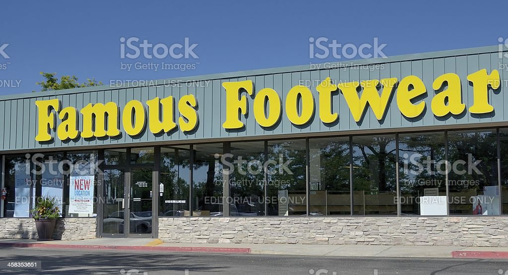 Famous Footwear royalty-free stock photo
