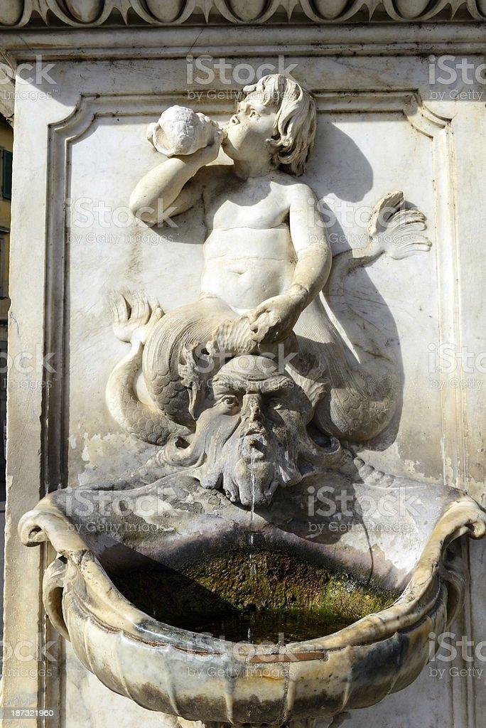 Famous fountain in Pisa, Italy stock photo
