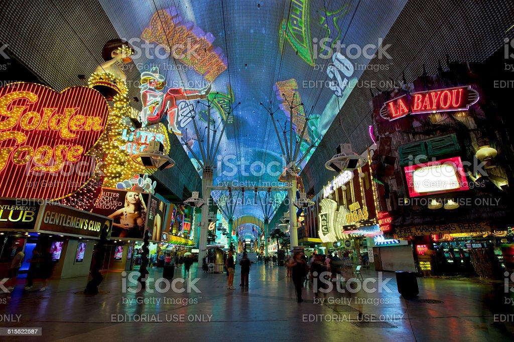 Famous Fremont Street Nightlife in Las Vegas, Navada stock photo