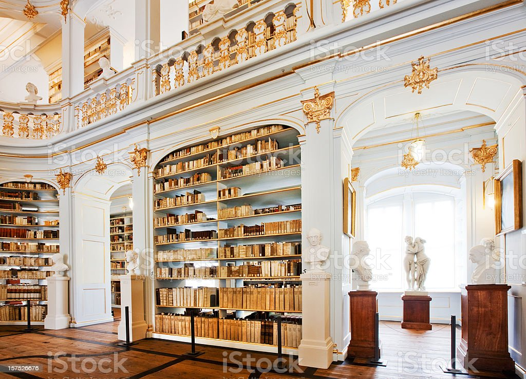 famous German  Library stock photo