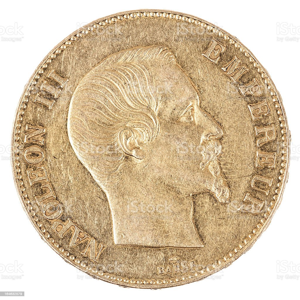 famous gold coin royalty-free stock photo