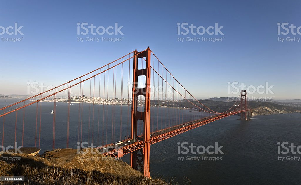Famous Golden  Gate Bridge in San Francisco royalty-free stock photo
