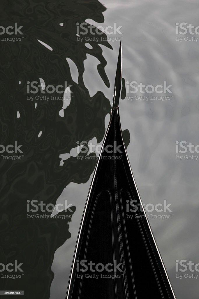 Famous Gondola in Venice, Italy royalty-free stock photo
