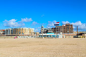 Famous Grand Hotel Amrath Kurhaus and Scheveningen beach panorama, Hague
