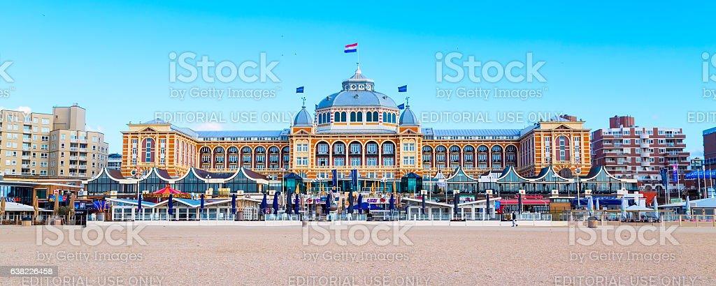Famous Grand Hotel Amrath Kurhaus at Scheveningen beach, Hague, Netherlands stock photo