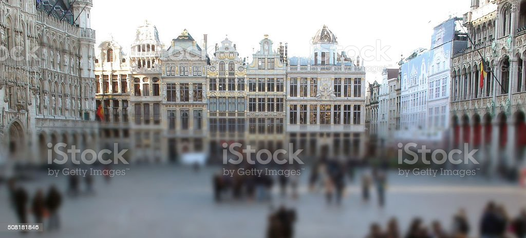 Famous Grand Place Located At Central Square Of Brussels Belgium.Europe stock photo