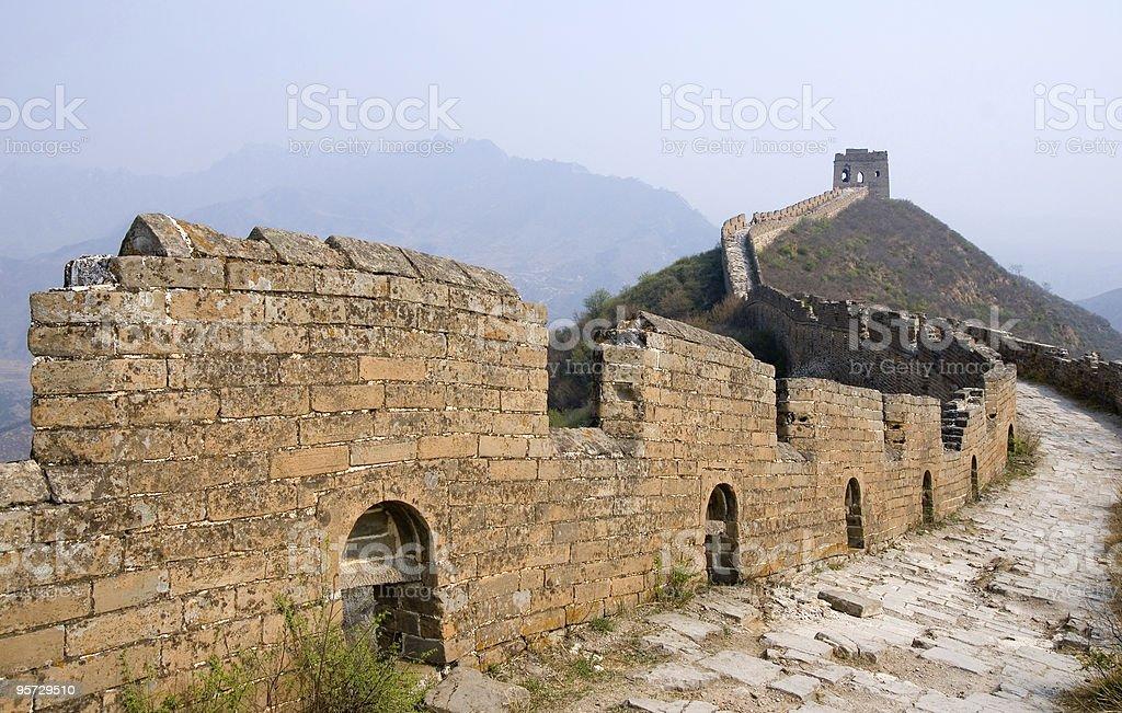 Famous Great Wall at Simatai royalty-free stock photo