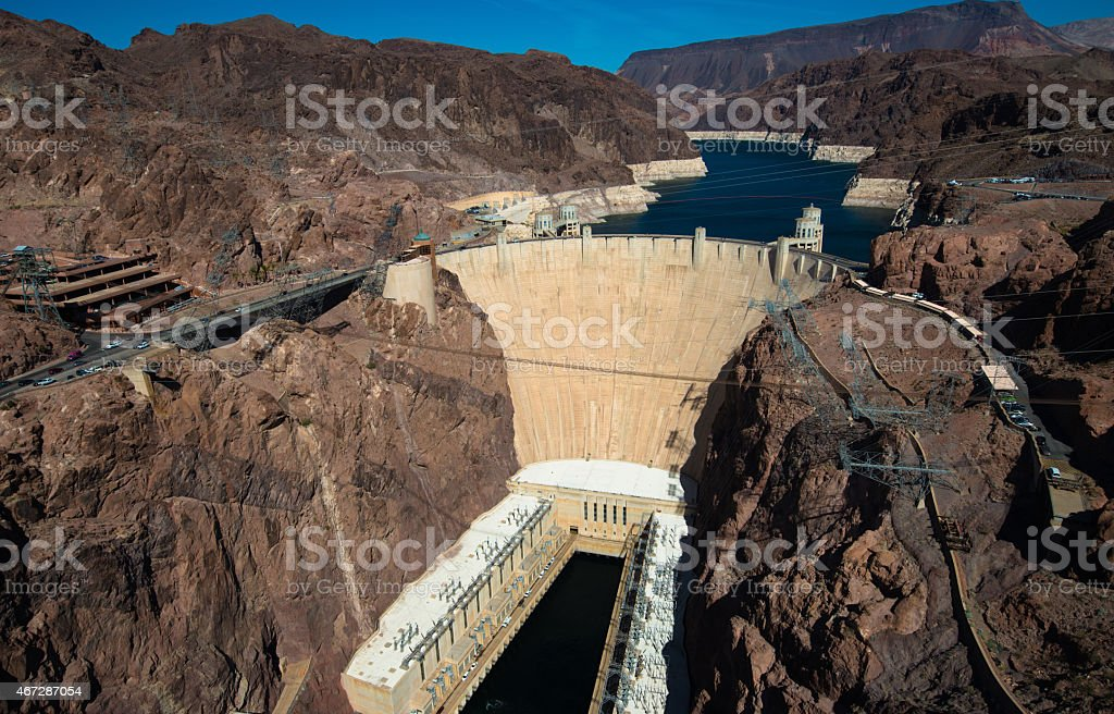 Famous Hoover Dam near Las Vegas, Nevada stock photo