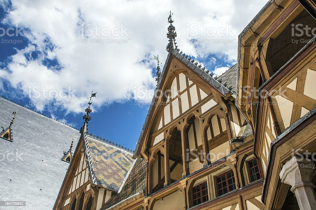 famous hospice in Beaune, France stock photo