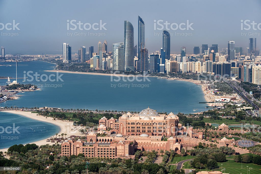 Famous hotel in Abu Dhabi stock photo