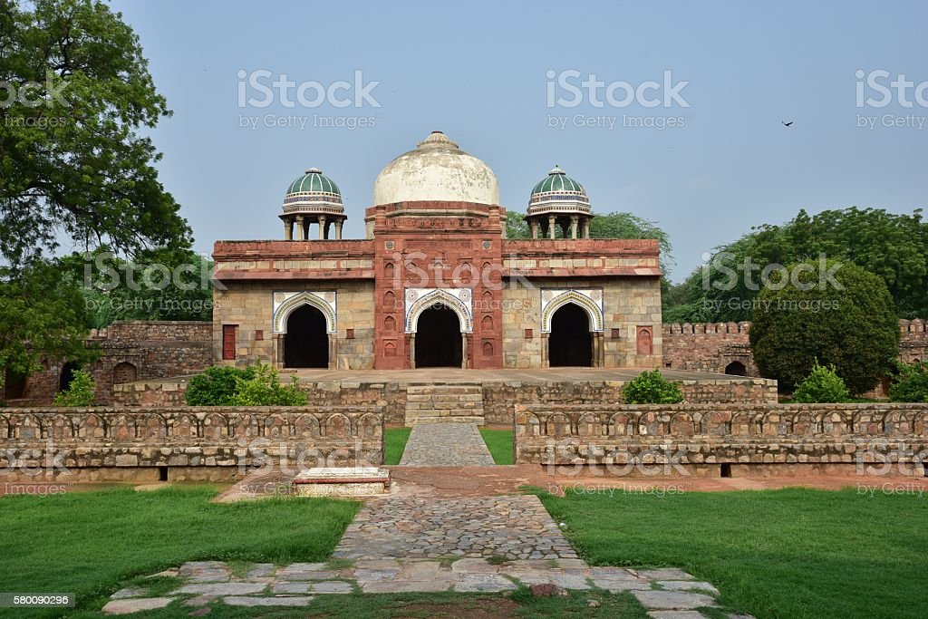 Famous Humayun's Tomb in Delh stock photo