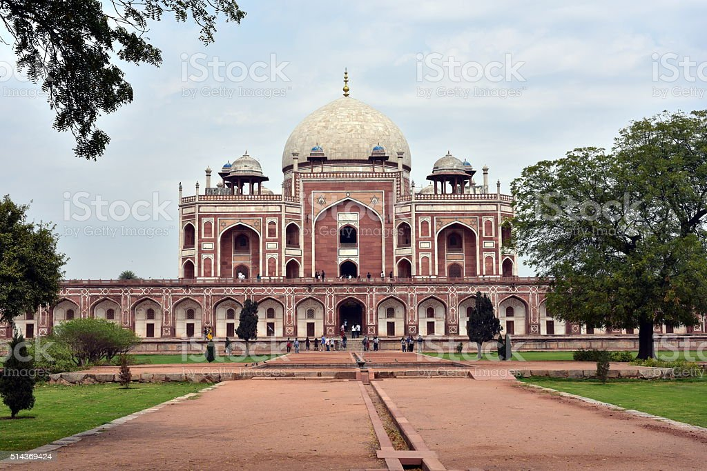 Famous Humayun's Tomb in Delhi stock photo