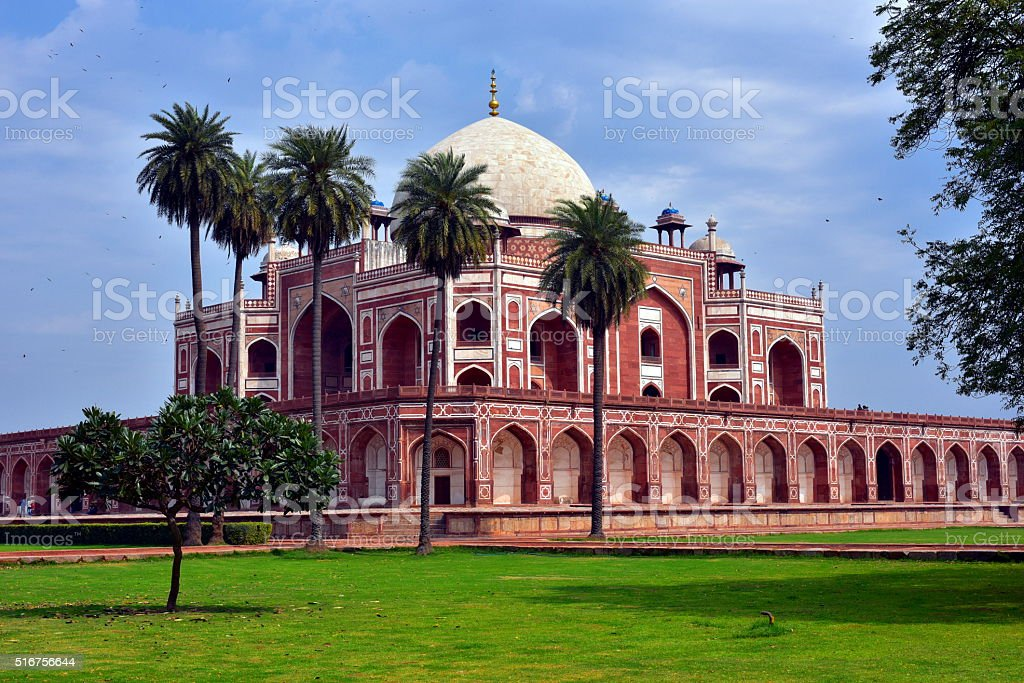 Famous Humayun's Tomb in Delhi stock photo