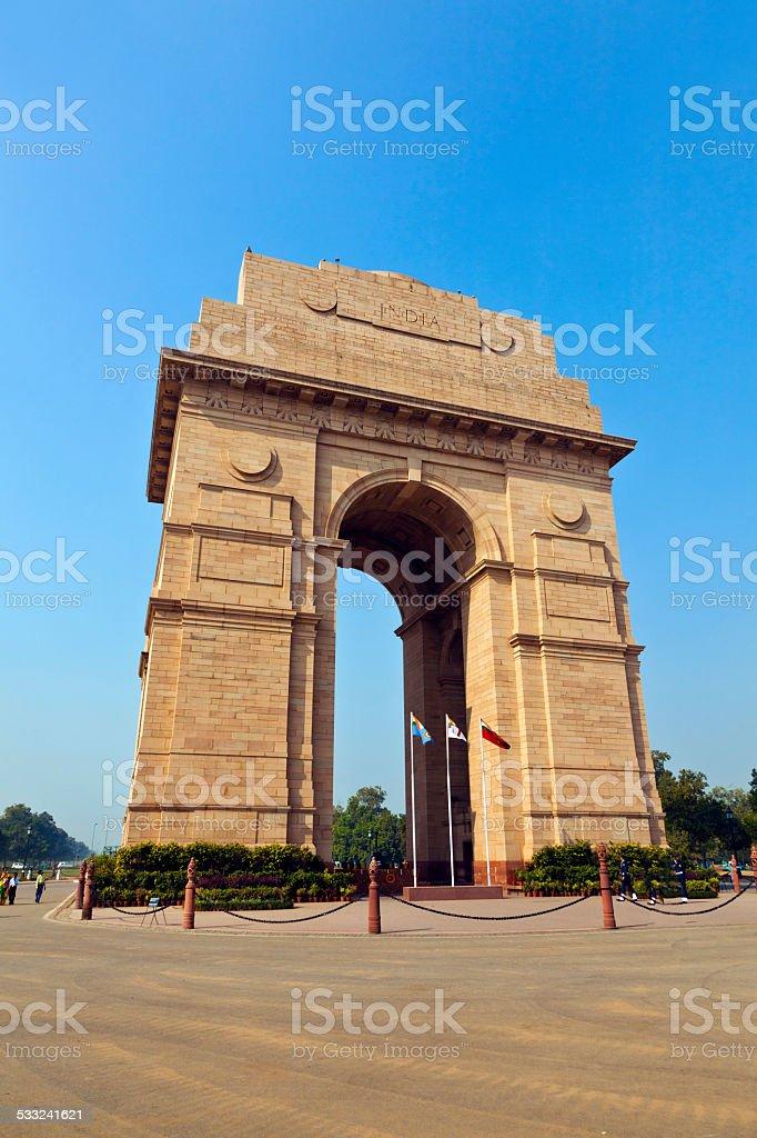 famous india gate in Delhi stock photo