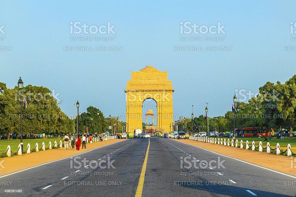 famous India Gate in New Delhi stock photo