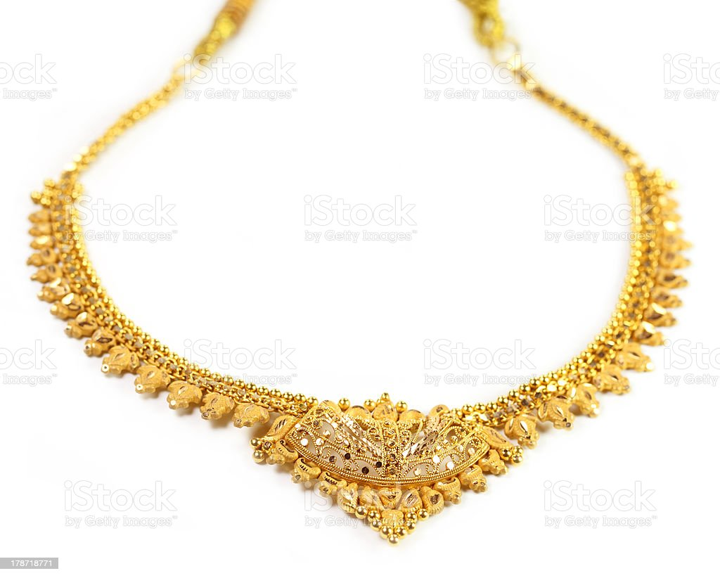 Famous Indian bridal Necklace stock photo