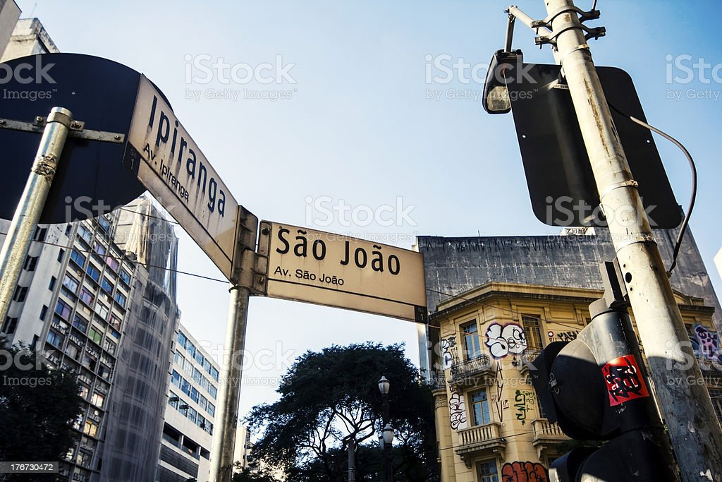 Famous Intersection in Sao Paulo stock photo