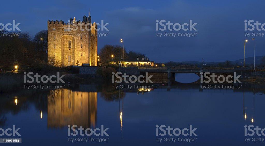 famous irish castle in county clare stock photo
