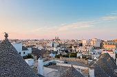 Famous Italian landmark, trulli of Alberobello, Apulian region,