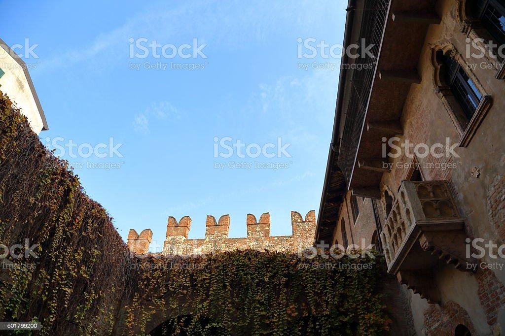 Famous Juliet's Balcony stock photo