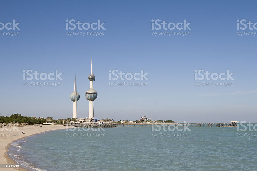 Famous Kuwait Towers stock photo