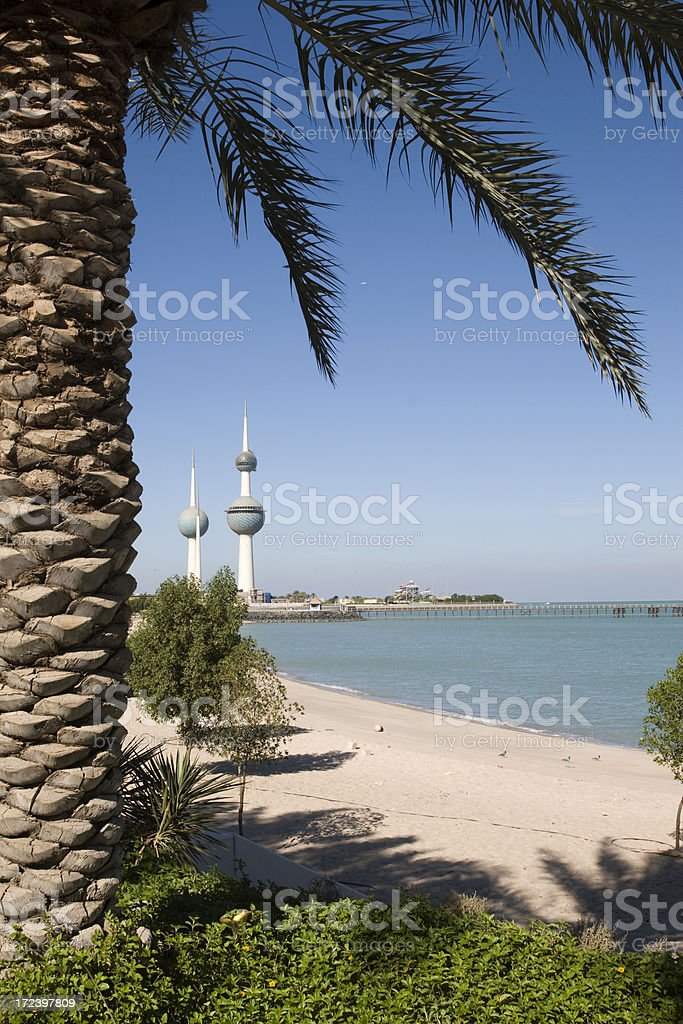 Famous Kuwait Towers royalty-free stock photo