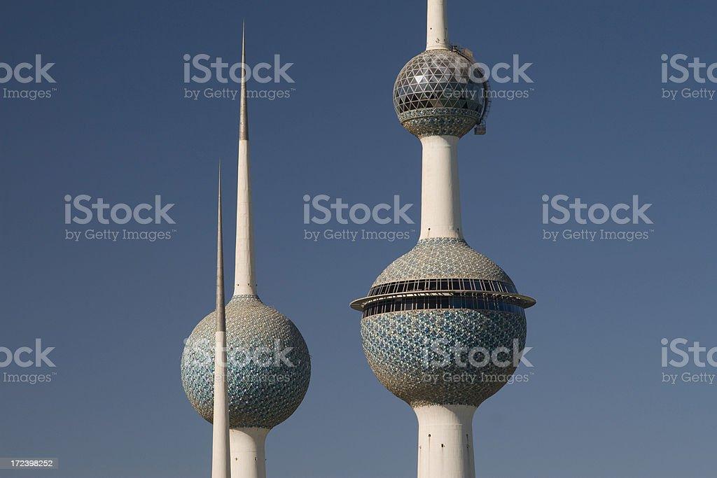 Famous Kuwait Towers stock photo