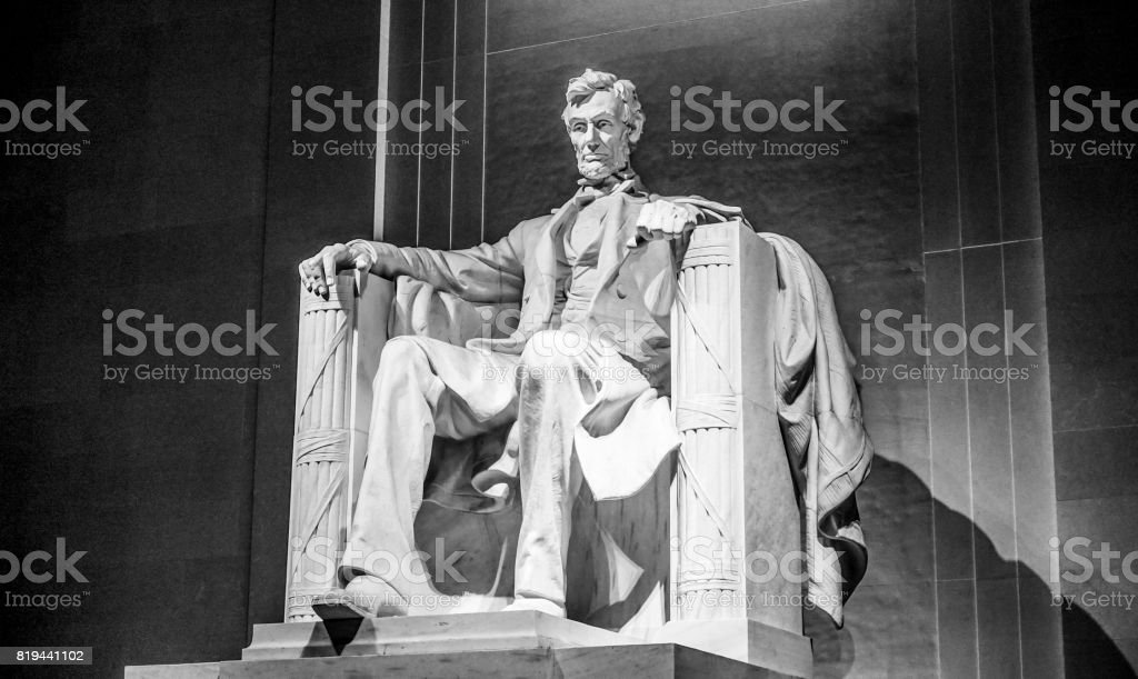 Famous landmark in Washington DC - The Lincoln Memorial stock photo