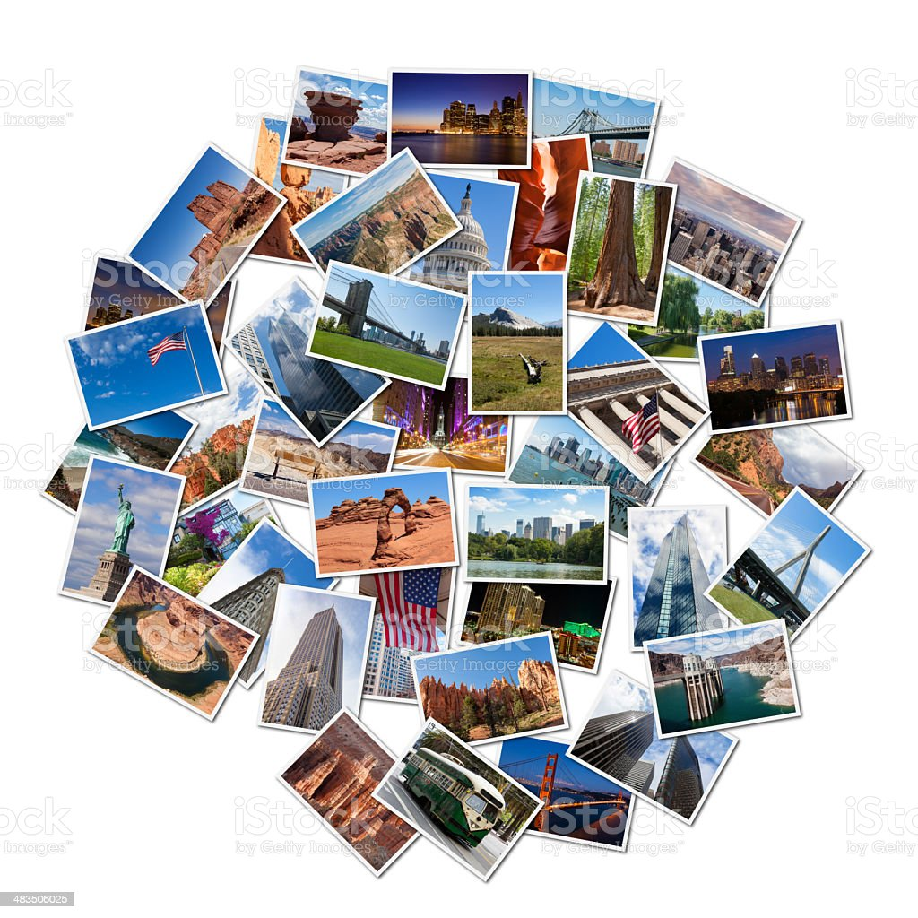 USA famous landmarks and landscapes photo collage stock photo