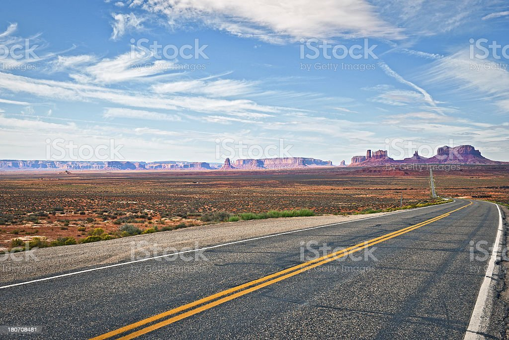 Famous Landscape in Monument Valley Utah USA royalty-free stock photo