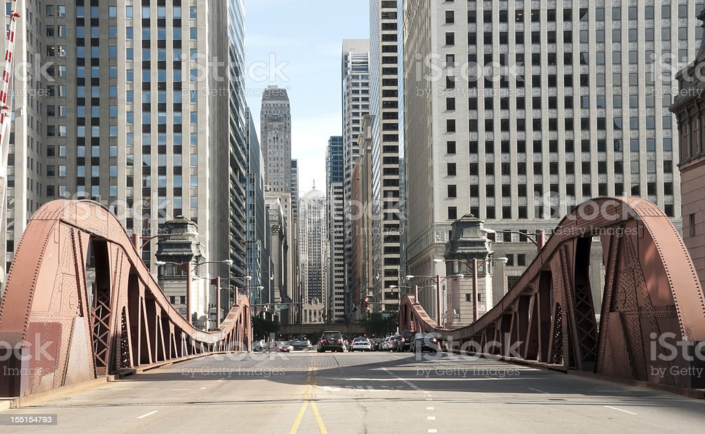 Famous LaSalle Street Bridge stock photo