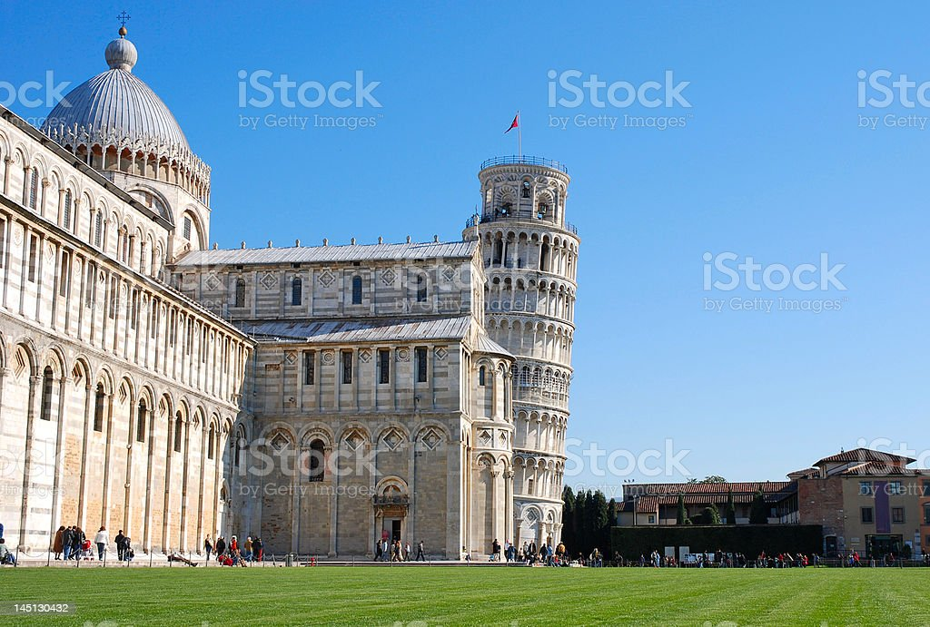 Famous leaning tower of Pisa royalty-free stock photo