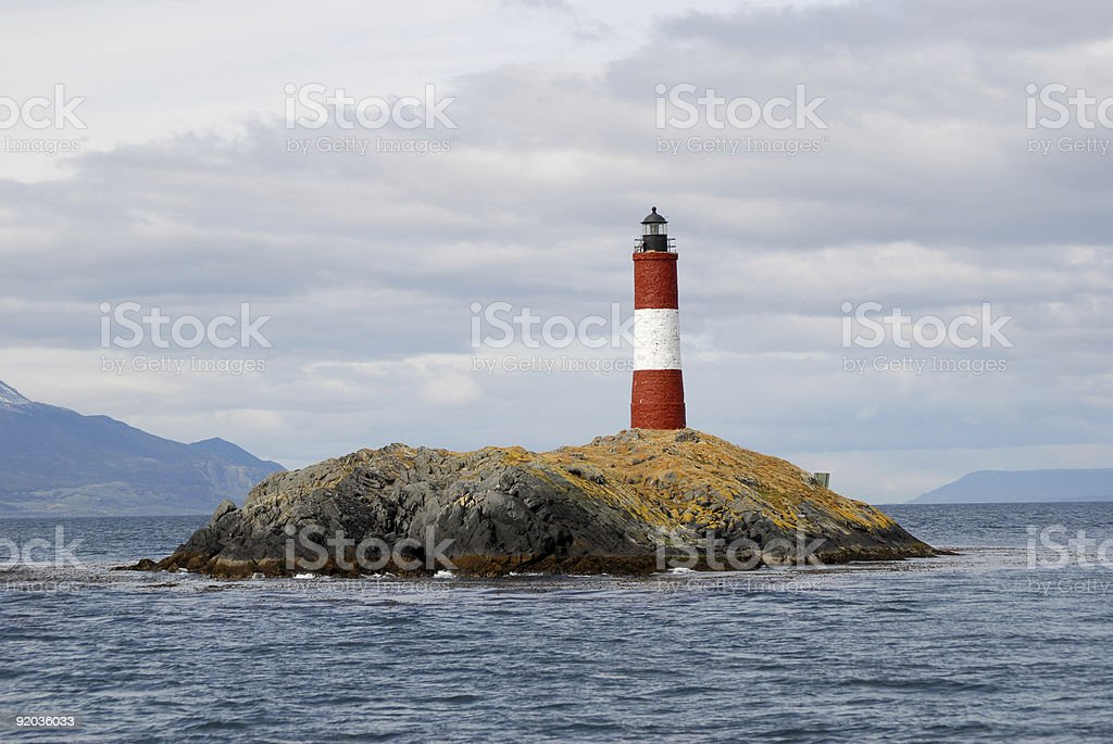 Famous lighthouse on the Beagle Channel royalty-free stock photo